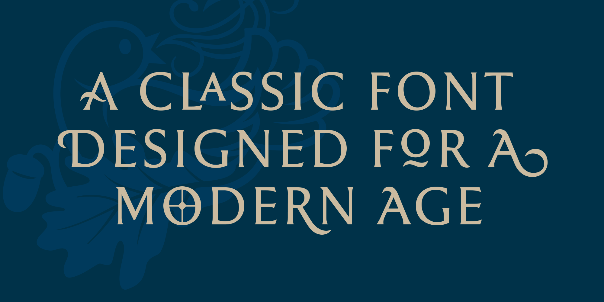 Rahere Roman Display, a classic font for a modern age