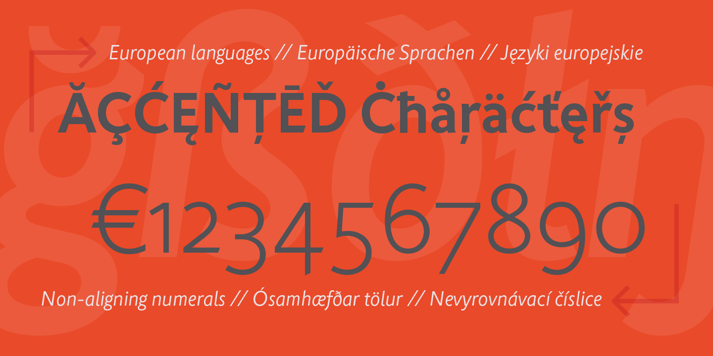 Rahere Sans font contains characters for most major European languages